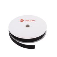VELCRO® Brand Hook 20mm sort, PS14 klæb