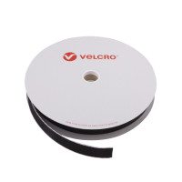 VELCRO® Brand Hook 20mm sort, PS18 klæb
