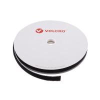 VELCRO® Brand Loop 20mm sort, PS18 klæb