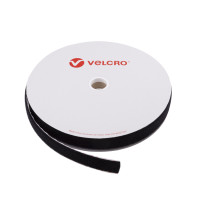 VELCRO® Brand Loop 30mm sort, PS18 klæb