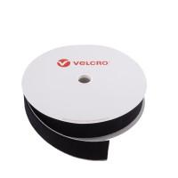 VELCRO® Brand Loop 50mm sort, PS14 klæb